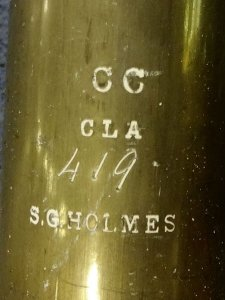 Great Clarion pipe neatly  stamped by S. G. Holmes.