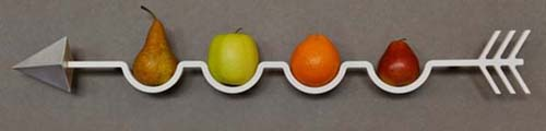 frecciamela bol frutas diseñado nicola loy andrea maffezzoni para apiupiu design