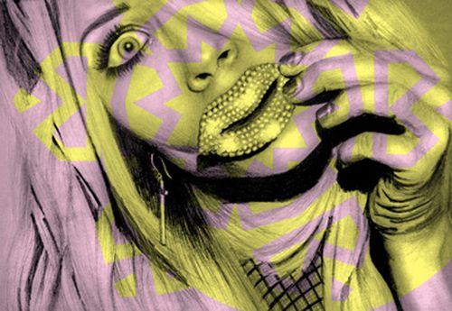 all the shine retrato modelo ilustradora londres sandra jawad