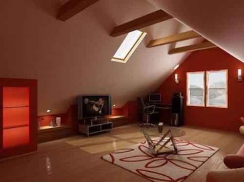 fotografia decoracion atico usado como sala estar