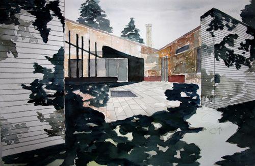 dibujo casa alvar aalto arquitecto nordico