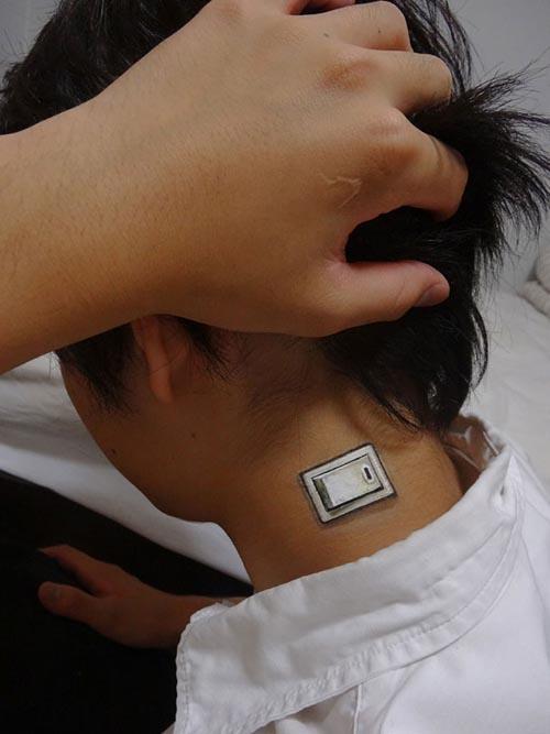 trabajo body art interruptor cuello chico artista japonesa chooo san