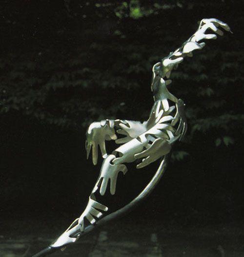 puzzle escultura artista guy portelli