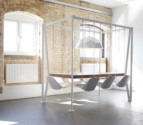 swing table mesa sillas colgantes christopher duffy para duffy london
