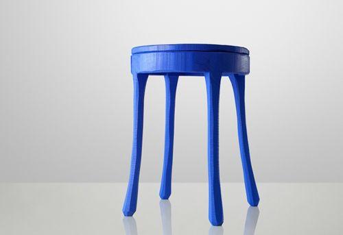 mesilla noche forma taburete azul tienda kulunk deco