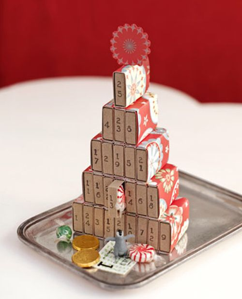calendario adcviento cajas cerillas piramide sweet paul