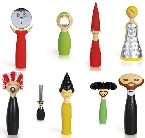 utensilios familia alegre colores