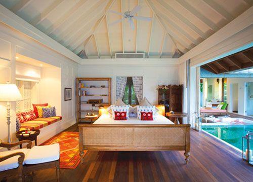 dormitorio hotel lujo naladhu resort maldives