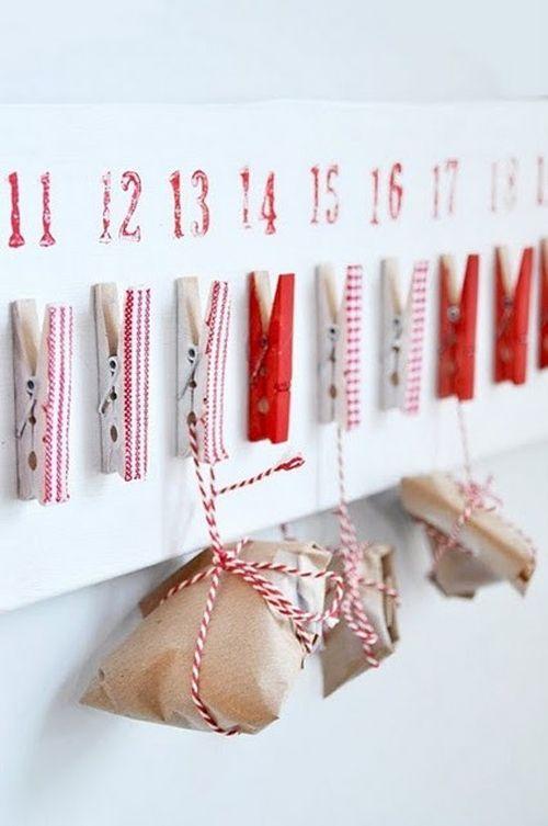 calendario adviento pinzas paquetes