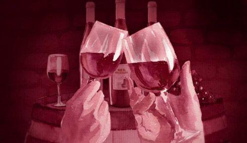 acuarela vino bodegas valdemar