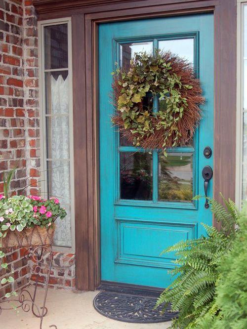 puerta azul cristal diynetwork.com