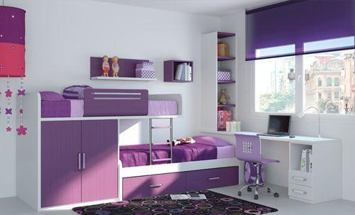 dormitorio juvenil morado kibuc