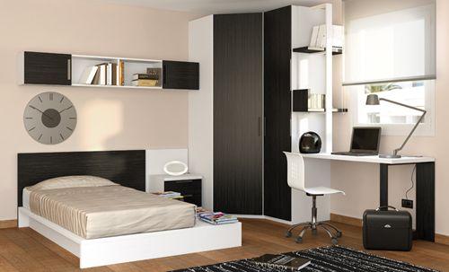 dormitorio juvenil negro kubic