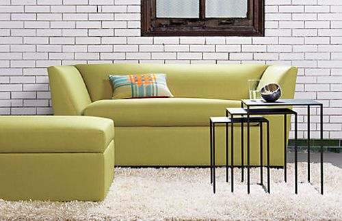 sofa julius grass twin sleeper sofa cb2