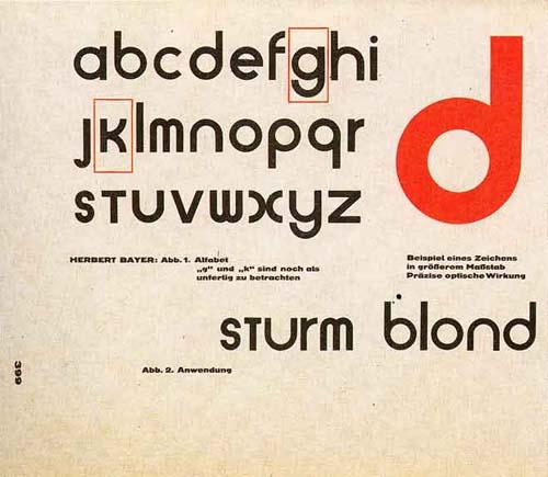 tipografia universal bayer bauhaus