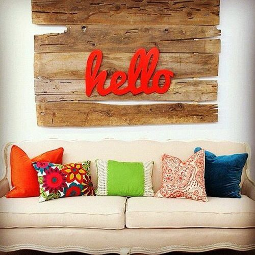 idea decorar pared diy