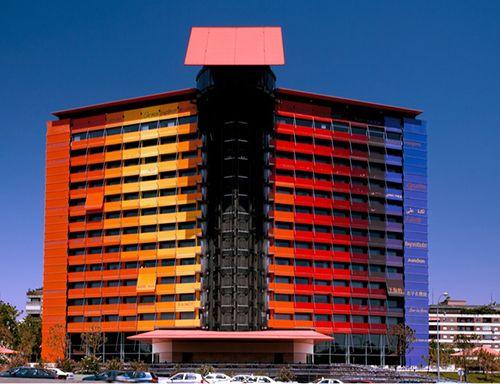 fachada hotel puerta america madrid