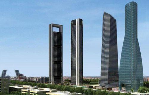 imagen panoramica cuatro torres madrid