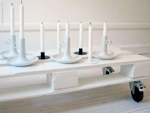 mesa blanco palet x4duros.com