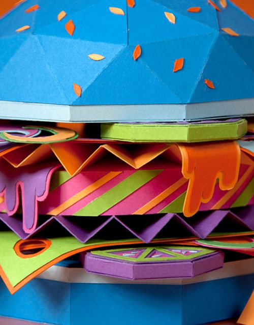 detalle the future food hamburguesa papel zim and zou