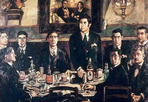 The Gathering en el Café del Pombo, de José Solana.