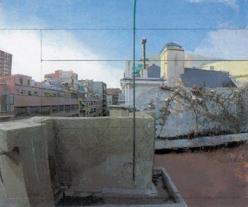 terraza lucio hiperrealista antonio lopez