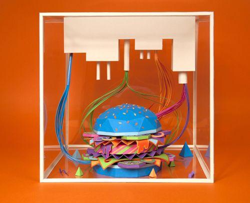 hamburguesa papel