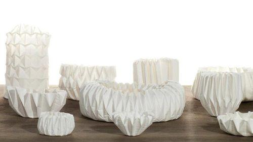 diseño pliegues blanco