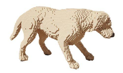 dog escultura lego nathan sawaya in pieces inpiecescollection.com