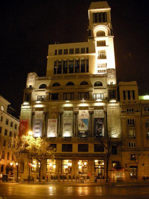 fachada noche cba madrid rociodiazgomez.blogspot.com.es