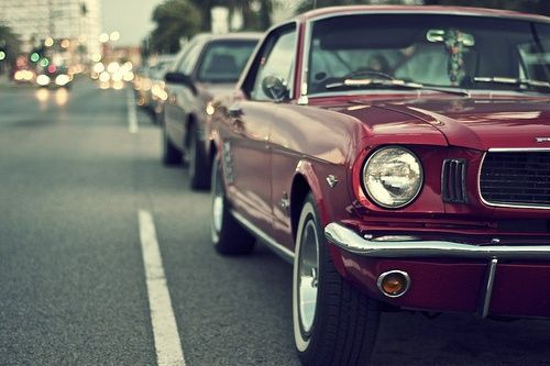 coche clasico mustang 60