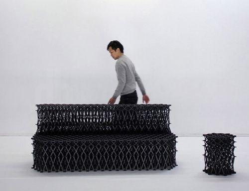 muebles xxx_ negro yuya ushida designboom.com