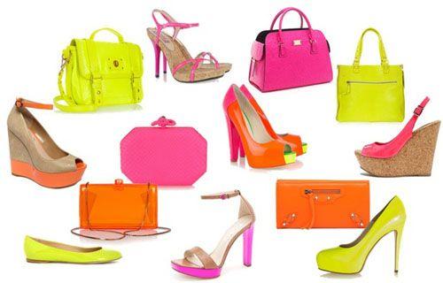 zapatos bolsos tendencia fluor cheapandcool.net