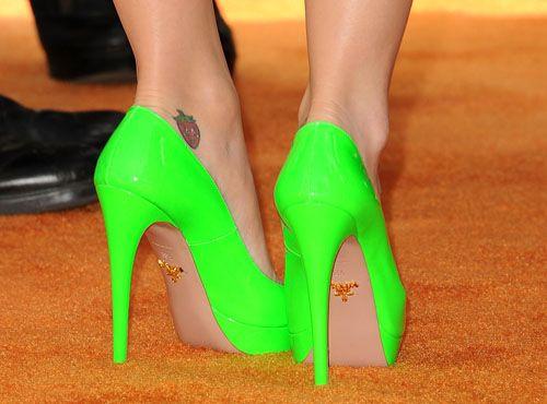 zapatos katy perry verdes fluor glamour.mx