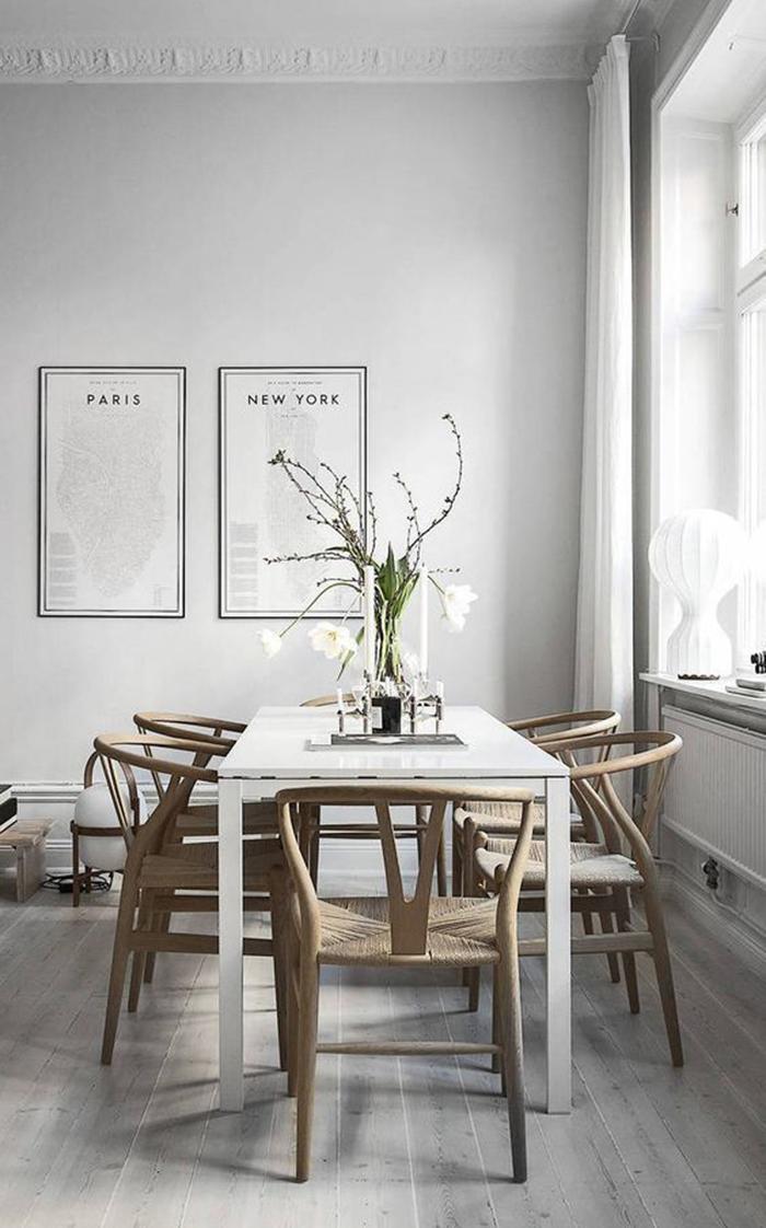Wishbone Chair integrada en diseño de interiores
