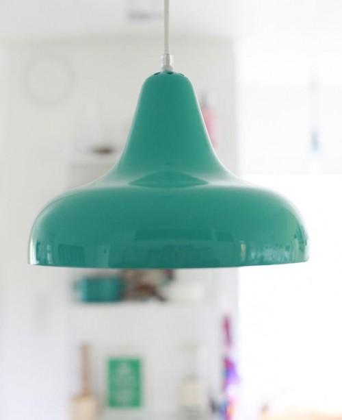 lampara vintage turquesa