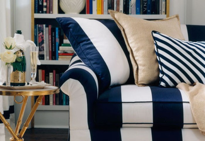 decoración navy sofa marinero