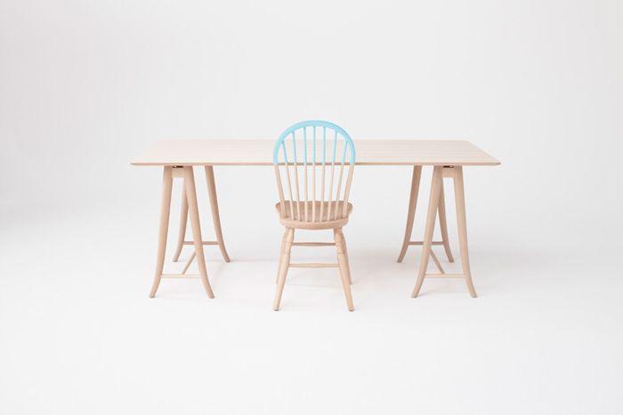 silla y mesa Windsor Akimoku