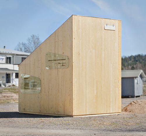 fachada madera minicasa modular