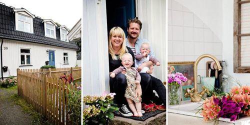 Familia en su casa compartida en Oslo