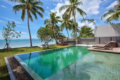 Mandalay-Beach Villa con piscina y vistas a la playa