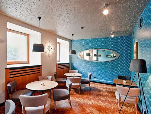 Interior retro de Zig Zag de 500 px