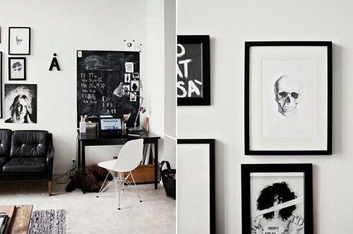 Decoracion cuadros blanco y negro