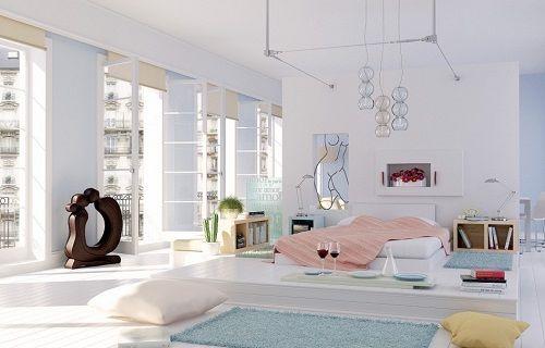 Dormitorio en colores suaves