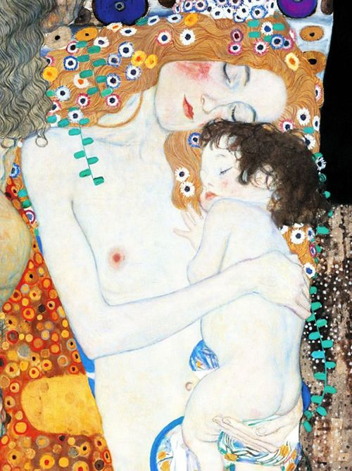 madre e hijo klimt