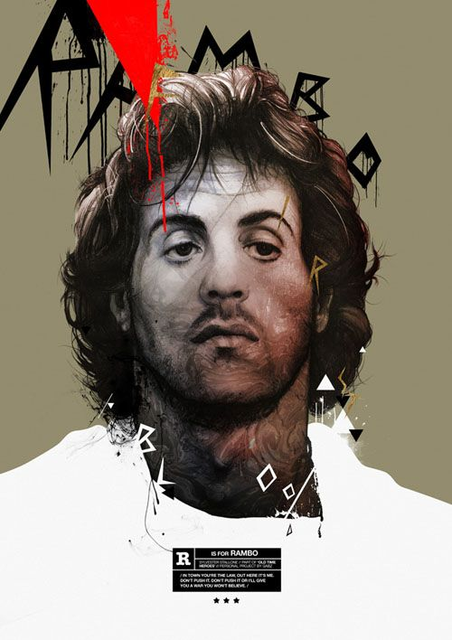 old-time-heroes silvester stallone ilustracion gabz
