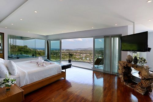 Dormitorio principal en Villa Beyond