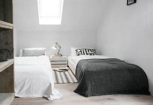Dormitorio doble escandinavo