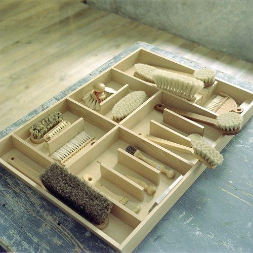 Juego de cepillos de madera