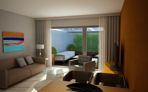 Sala de estar con terraza